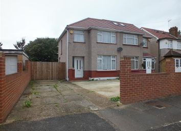 Thumbnail 3 bed semi-detached house to rent in Seaton Road, Hayes