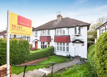 Thumbnail 4 bed semi-detached house to rent in Farm Road, Edgware