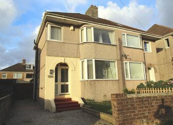Thumbnail 3 bedroom semi-detached house for sale in Efford Road, Plymouth, Devon
