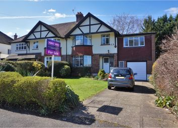 Thumbnail 4 bed semi-detached house for sale in Byron Avenue, Coulsdon