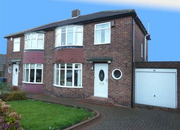 Thumbnail 3 bedroom semi-detached house to rent in Clayworth Road, Gosforth, Newcastle Upon Tyne