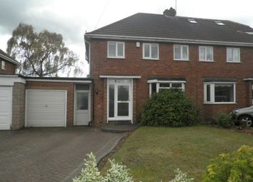 Thumbnail 3 bed semi-detached house to rent in Fotherley Brook Road, Aldridge, Walsall