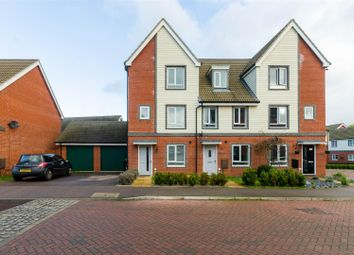 Thumbnail 4 bed town house for sale in Waxwing Way, Costessey, Norwich