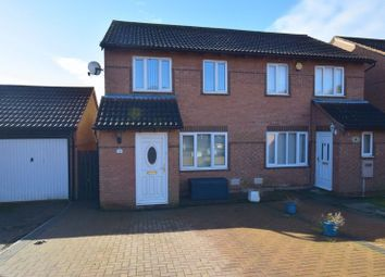 Thumbnail 3 bed semi-detached house for sale in Hexham Gardens, Far Bletchley, Milton Keynes