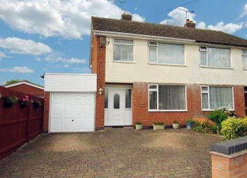 Thumbnail 3 bedroom semi-detached house for sale in Cherry Road, Blaby, Leicester