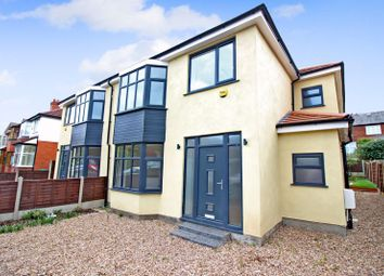 Thumbnail 4 bed semi-detached house for sale in Stand Avenue, Whitefield, Manchester