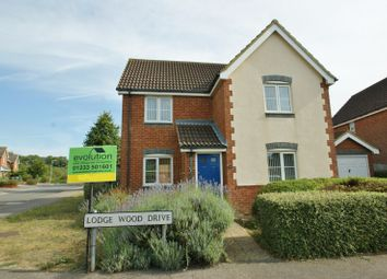 Thumbnail 3 bed detached house to rent in Lodge Wood Drive, Ashford
