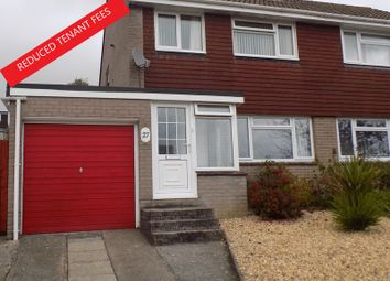 Thumbnail 3 bed semi-detached house to rent in Fernhill Close, Ivybridge