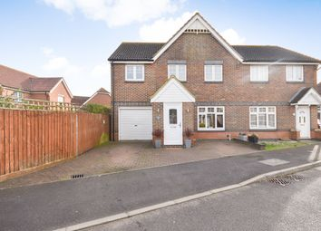 Thumbnail 4 bed semi-detached house for sale in Waddington Drive, Hawkinge, Folkestone