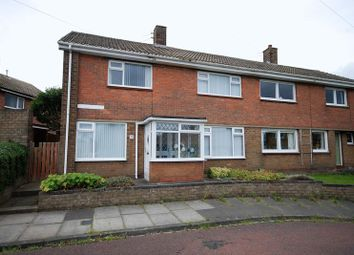 Thumbnail 3 bed semi-detached house for sale in West View, Pegswood, Morpeth