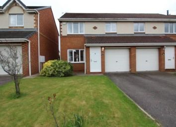Thumbnail 3 bed semi-detached house for sale in Chillingham Grove, Peterlee