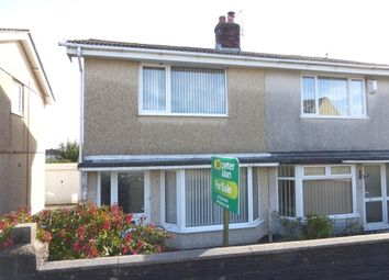 Thumbnail 2 bedroom semi-detached house for sale in Penllwynmarch Road, Gendros, Swansea