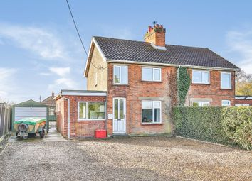 Thumbnail 4 bed semi-detached house for sale in School Road, Bracon Ash, Norwich