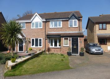 Thumbnail 3 bedroom semi-detached house for sale in Layzell Croft, Great Cornard, Sudbury