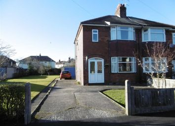 Thumbnail 3 bed semi-detached house for sale in Wistaston Avenue, Crewe