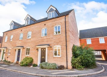 Thumbnail 3 bed end terrace house for sale in Blackthorn Road, Wymondham