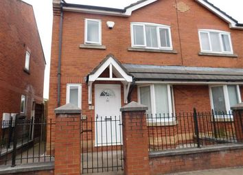 Thumbnail 3 bed semi-detached house to rent in Chorlton Road, Hulme, Manchester