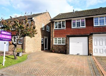 Thumbnail 3 bed semi-detached house for sale in Jubilee Close, Pamber Heath