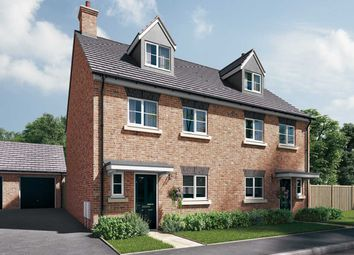 "Thumbnail 4 bed semi-detached house for sale in ""The Aslin"" at Station Approach, Westbury"