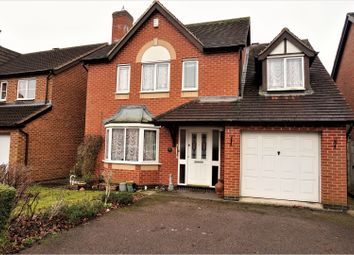 Thumbnail 4 bed detached house for sale in Allerton Drive, Leicester