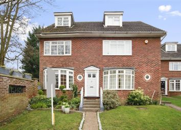 Thumbnail 4 bed end terrace house for sale in Gainsborough Court, Walton-On-Thames, Surrey