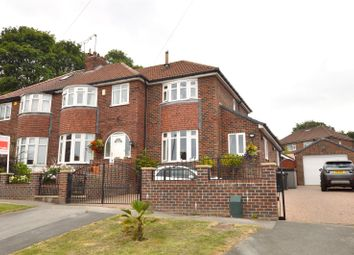 Thumbnail 4 bed semi-detached house for sale in Woodlands Park Grove, Pudsey, West Yorkshire