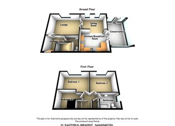 Thumbnail 3 bed semi-detached house for sale in Eastfield Crescent, Nassington, Peterborough