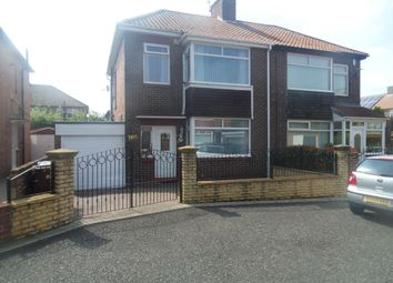 Thumbnail 3 bed semi-detached house for sale in Houndelee Place, Newcastle Upon Tyne