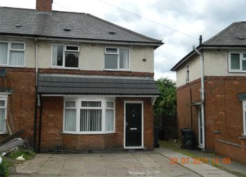 Thumbnail 3 bedroom semi-detached house to rent in Northleigh Road, Ward End, Birmingham