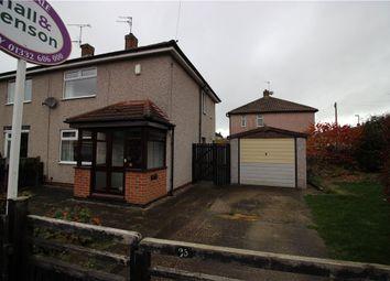 Thumbnail 2 bed semi-detached house for sale in Sandringham Road, Oakwood, Derby