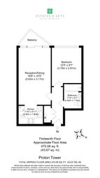 Thumbnail 1 bed flat for sale in Proton Tower, 8 Blackwall Way, London