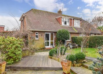 Thumbnail 2 bedroom semi-detached bungalow for sale in Downsway, Southwick, Brighton, West Sussex