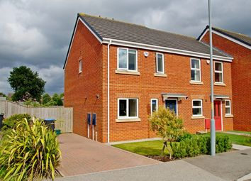Thumbnail 3 bed semi-detached house for sale in Prince Charles Avenue, Bowburn, Durham