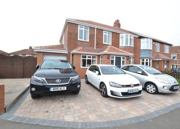 Thumbnail 5 bed semi-detached house for sale in Gretton Place, High Heaton, Newcastle Upon Tyne