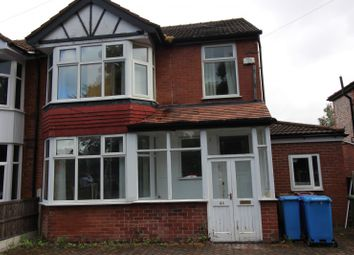 Thumbnail 7 bed semi-detached house to rent in Mauldeth Road West, Withington, Manchester