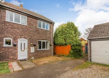 Thumbnail 3 bedroom semi-detached house for sale in Burgess Way, Brooke, Norwich