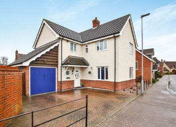 Thumbnail 4 bed detached house for sale in Bramble Way, Wymondham