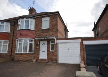 Thumbnail 3 bed semi-detached house for sale in Elmcroft Road, Forest Hall, Newcastle Upon Tyne