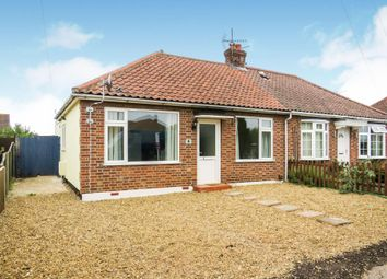 Thumbnail 2 bed bungalow to rent in Woodland Road, Hellesdon, Norwich