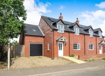 Thumbnail 4 bed semi-detached house for sale in Crown Road, Colkirk, Fakenham