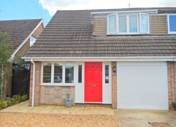 Thumbnail 3 bed semi-detached house for sale in Oakleigh Drive, Orton Longueville, Peterborough