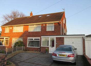 Thumbnail 4 bed semi-detached house for sale in Wirral Gardens, Bebington, Wirral