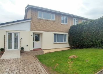 Thumbnail 3 bed semi-detached house for sale in Bryngwennol, Llanbradach, Caerphilly
