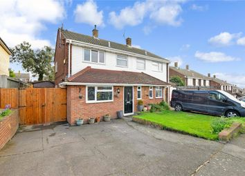 Thumbnail 4 bed semi-detached house for sale in Rochester Crescent, Hoo, Rochester, Kent