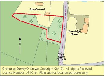 Thumbnail Land for sale in Land Adj. Bramblewood, Stone Street, Petham, Canterbury, Kent