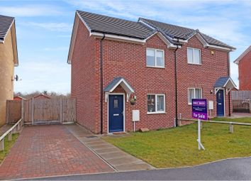 Thumbnail 2 bed semi-detached house for sale in Lauriston Road, Grantham