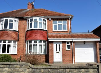 Thumbnail 3 bed semi-detached house for sale in Longridge Avenue, Newcastle Upon Tyne
