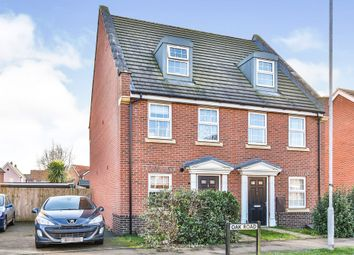 Thumbnail 3 bed town house for sale in Oak Road, Dereham