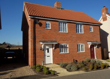 Thumbnail 2 bed semi-detached house for sale in Beckers View, Wenhaston, Halesworth
