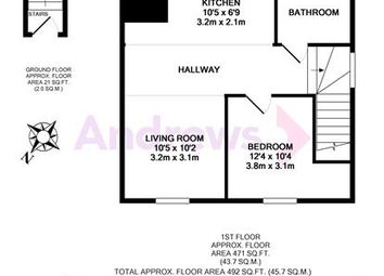Thumbnail Flat to rent in First Floor Apartment Longmead, Abingdon, Oxfordshire